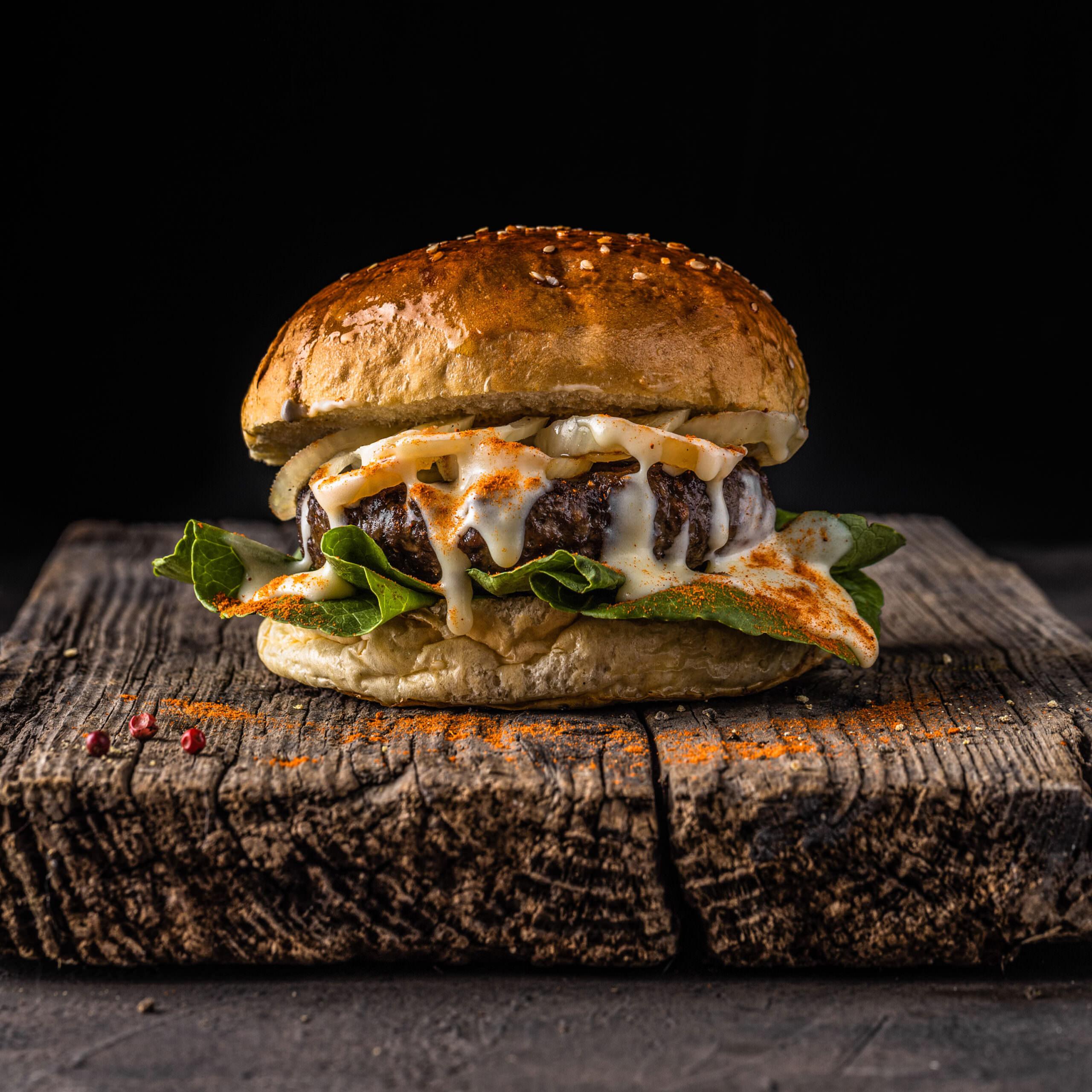burger styling für foodfoto